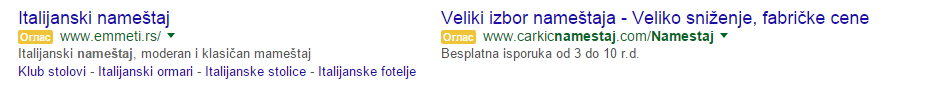 GOOGLE OGLAS - TEST